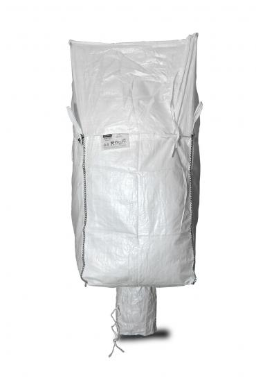 Big Bag 90x90x165 cm, Schürzendeckel, Auslaufstutzen, SWL 1.150 kg
